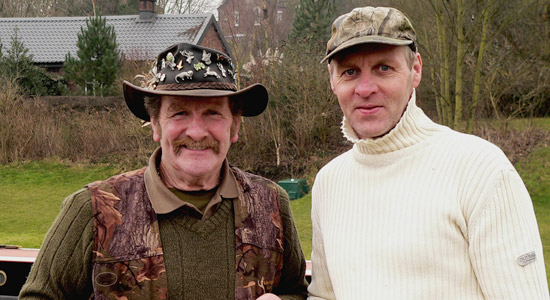 Johnny Kingdom and myself during Febraury 2010 filming footage on our river weaver.