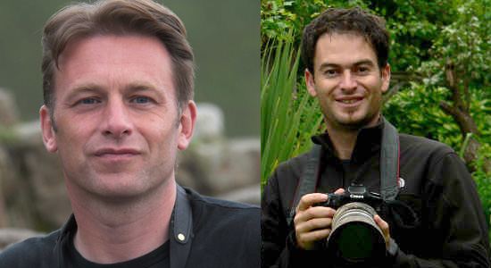 Rupert Smith (Johnny Kingdom's Cameraman) and Chris Packham from BBC's Springwatch program